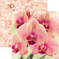 Reminisce - Unwind Collection - 12 x 12 Double Sided Paper - Pink Orchid