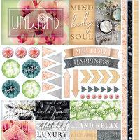 Reminisce - Unwind Collection - 12 x 12 Elements Sticker