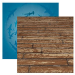 Reminisce - Under The Sea Collection - Seaworld - 12 x 12 Double Sided Paper - The Old Boardwalk