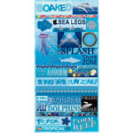 Reminisce - Under The Sea Collection - Seaworld - Die Cut Cardstock Stickers - Quotes