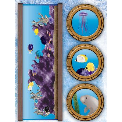 Reminisce Under The Sea Collection Seaworld 3 Dimensional Stickers Fish Tank