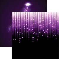 Reminisce - Ultraviolet Collection - 12 x 12 Double Sided Paper - Brilliance
