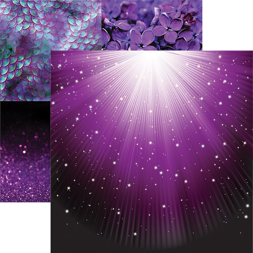 Reminisce - Ultraviolet Collection - 12 x 12 Double Sided Paper - Light the Way