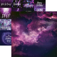 Reminisce - Ultraviolet Collection - 12 x 12 Double Sided Paper - Violet Sky