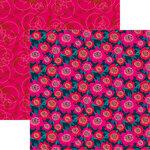 Reminisce - VB Inspired Collection - 12 x 12 Double Sided Paper - Happy Camellia