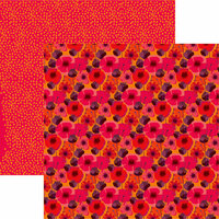 Reminisce - VB Inspired Collection - 12 x 12 Double Sided Paper - Wild Poppies