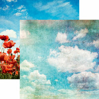 Reminisce - Vintage Day Collection - 12 x 12 Double Sided Paper - Blue Skies