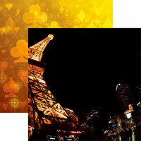Reminisce - Vegas Collection - 12 x 12 Double Sided Paper - Las Vegas Eiffel Tower