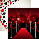 Reminisce - Vegas Collection - 12 x 12 Double Sided Paper - The Red Carpet
