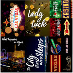 Reminisce - Vegas Collection - 12 x 12 Cardstock Stickers - Poster