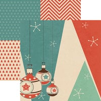 Reminisce - Vintage Christmas Collection - 12 x 12 Double Sided Paper - Ornaments