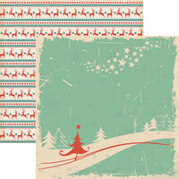 Reminisce - Vintage Christmas Collection - 12 x 12 Double Sided Paper - Christmas Tree