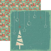 Reminisce - Vintage Christmas Collection - 12 x 12 Double Sided Paper - Christmas Tree Too