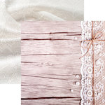 Reminisce - Vintage Lace Collection - 12 x 12 Double Sided Paper - Lace and Wood