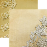 Reminisce - Vintage Lace Collection - 12 x 12 Double Sided Paper - Floral Lace