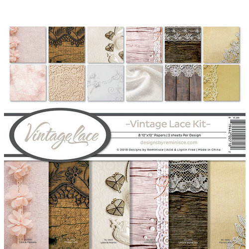Reminisce - Vintage Lace Collection - 12 x 12 Collection Kit