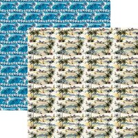 Reminisce - Vintage Paradise Collection - 12 x 12 Double Sided Paper - Island Vintage
