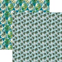 Reminisce - Vintage Paradise Collection - 12 x 12 Double Sided Paper - Flamingos in Paradise
