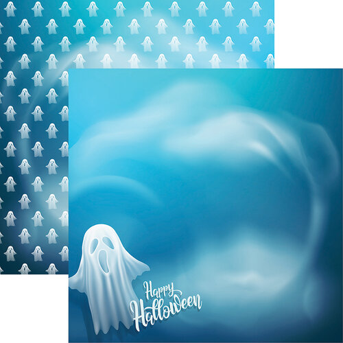 Ella and Viv Paper Company - Very Strange Things Collection - 12 x 12 Double Sided Paper - Ghosted