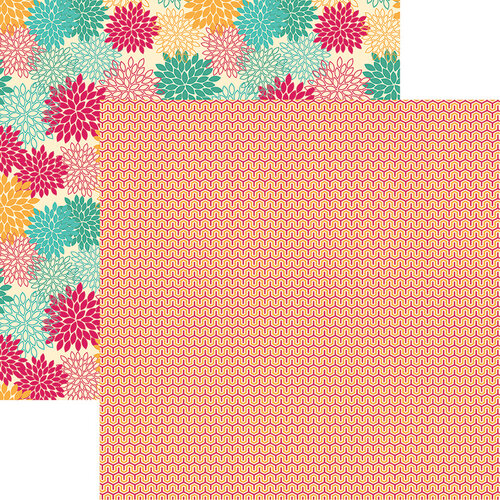 Ella and Viv Paper Company - Wild and Free Collection - 12 x 12 Double Sided Paper - Be Brave