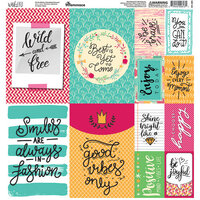 Ella and Viv Paper Company - Wild and Free Collection - 12 x 12 Cardstock Stickers - Poster