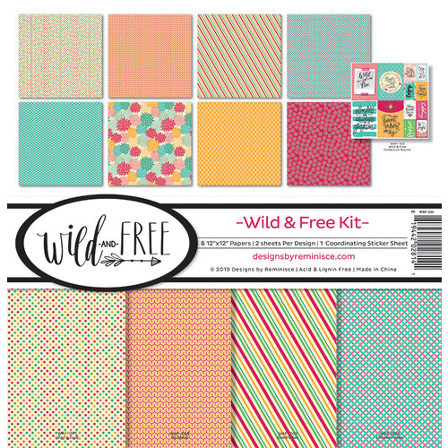 Ella and Viv Paper Company - Wild and Free Collection - 12 x 12 Collection Kit