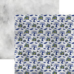 Reminisce - Watercolor Halloween Collection - 12 x 12 Double Sided Paper - Haunted Houses