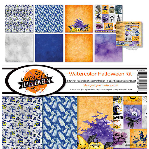Reminisce - Watercolor Halloween Collection - 12 x 12 Collection Kit
