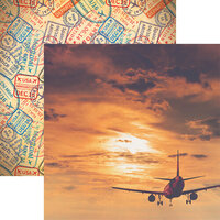 Reminisce - Wanderlust Collection - 12 x 12 Double Sided Paper - By Plane