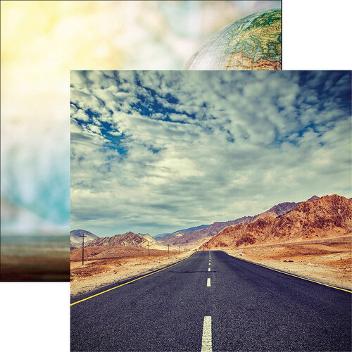 Reminisce - Wanderlust Collection - 12 x 12 Double Sided Paper - By Road
