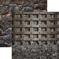 Reminisce - Warrior Collection - 12 x 12 Double Sided Paper - Castle Wall