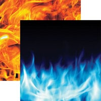 Reminisce - Warrior Collection - 12 x 12 Double Sided Paper - Wild Flames