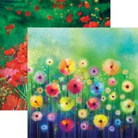 Reminisce - What Dreams May Come Collection - 12 x 12 Double Sided Paper - Watercolor Garden