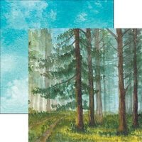 Reminisce - What Dreams May Come Collection - 12 x 12 Double Sided Paper - Watercolor Forest