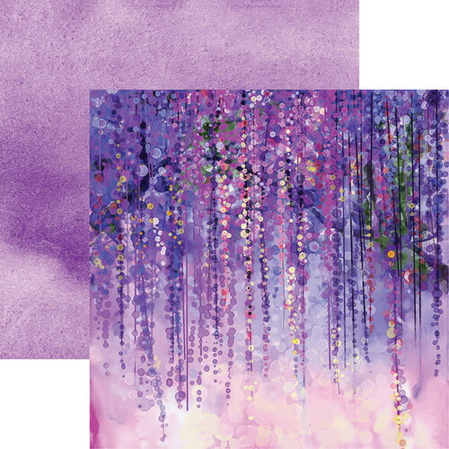 Reminisce - What Dreams May Come Collection - 12 x 12 Double Sided Paper - Watercolor Wisteria