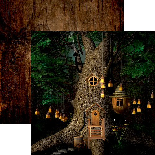 Reminisce - Woodland Elf Collection - 12 x 12 Double Sided Paper - Woodland Elf