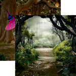 Reminisce - Woodland Elf Collection - 12 x 12 Double Sided Paper - Castle in the Forest
