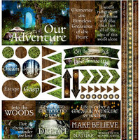 Reminisce - Woodland Elf Collection - 12 x 12 Cardstock Stickers - Elements