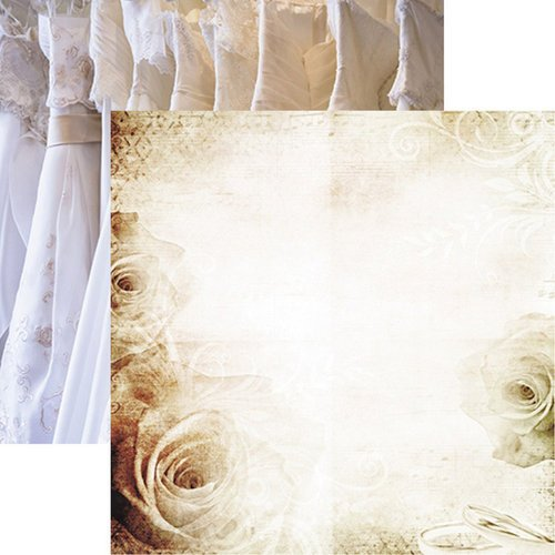 Reminisce - Wedding Day Collection - 12 x 12 Double Sided Paper - Wedding Lace