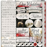 Reminisce - Wedding Day Collection - 12 x 12 Cardstock Stickers - Combo