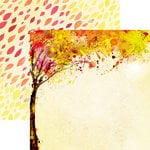 Reminisce - Watercolor Fall Collection - 12 x 12 Double Sided Paper - Autumn Splendor