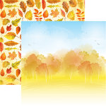 Reminisce - Watercolor Fall Collection - 12 x 12 Double Sided Paper - Autumn's Arrival