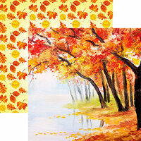 Reminisce - Watercolor Fall Collection - 12 x 12 Double Sided Paper - Autumn Enchantment