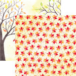 Reminisce - Watercolor Fall Collection - 12 x 12 Double Sided Paper - Autumn Foliage