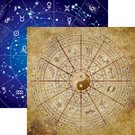 Reminisce - Whats Your Sign Collection - 12 x 12 Double Sided Paper - Wheel of the Zodiac