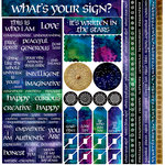 Reminisce - Whats Your Sign Collection - 12 x 12 Cardstock Stickers - Multi