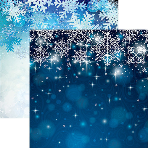 Reminisce - Winter is Coming Collection - 12 x 12 Double Sided Paper - Jack Frost