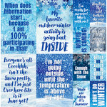 Reminisce - Winter is Coming Collection - 12 x 12 Cardstock Stickers - Poster
