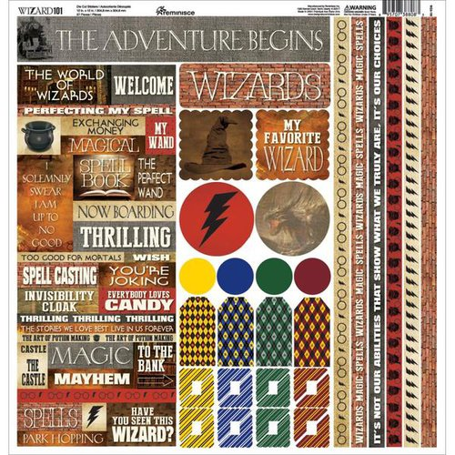 Reminisce - Wizard 101 Collection - 12 x 12 Cardstock Stickers - Multi