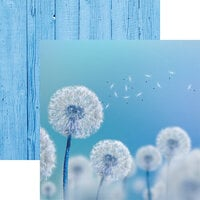 Reminisce - Wildflower Collection - 12 x 12 Double Sided Paper - Dandelion Wish